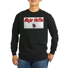 USAF Major Hottie Long Sleeve Dark T-Shirt