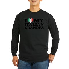 I Love My italian Grandpa Long Sleeve Dark T-Shirt