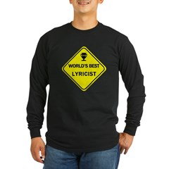Lyricist Long Sleeve Dark T-Shirt