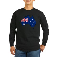 Cool Australia Long Sleeve Dark T-Shirt