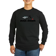 man down ponger Long Sleeve Dark T-Shirt