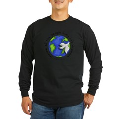 Imagine - World - Live in Peace Long Sleeve Dark T-Shirt