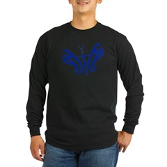Design Flies Long Sleeve Dark T-Shirt