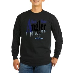 Hard Water Angler Long Sleeve Dark T-Shirt