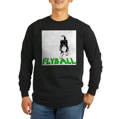 Flyball Dog Long Sleeve Dark T-Shirt