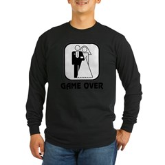 Wedding Symbol: Game Over Long Sleeve Dark T-Shirt