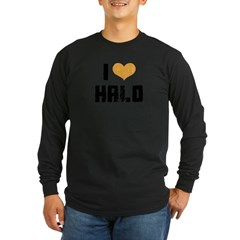 I Heart Halo Long Sleeve Dark T-Shirt