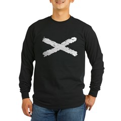 Scottish flag Long Sleeve Dark T-Shirt