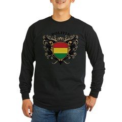 Bolivia Long Sleeve Dark T-Shirt
