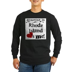 Someone in Rhode Island Long Sleeve Dark T-Shirt