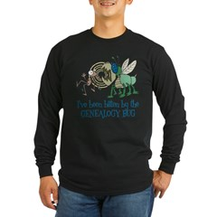 Bitten by Genealogy Bug Long Sleeve Dark T-Shirt