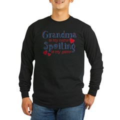 Spoiling Grandma Long Sleeve Dark T-Shirt