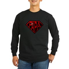 papa Long Sleeve Dark T-Shirt
