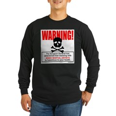 WARNING MMA Long Sleeve Dark T-Shirt
