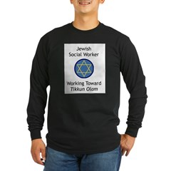 Jewish Social Worker Long Sleeve Dark T-Shirt