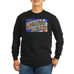 Myrtle Beach South Carolina (Front) Long Sleeve Dark T-Shirt