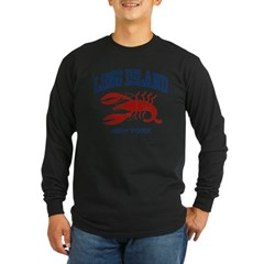 Long Island New York Long Sleeve Dark T-Shirt
