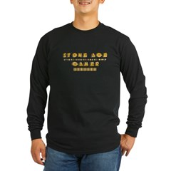 Stone Age Gamer Long Sleeve Dark T-Shirt