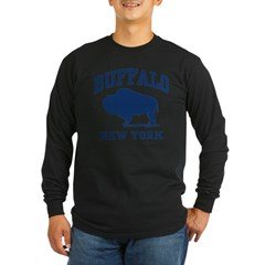 Buffalo New York Long Sleeve Dark T-Shirt