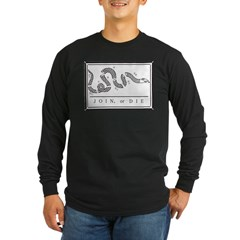 Join or Die Flag Long Sleeve Dark T-Shirt