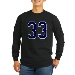 NUMBER 33 FRON Long Sleeve Dark T-Shirt