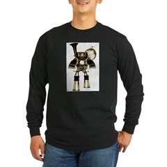 musicrobot_color.jpg Long Sleeve Dark T-Shirt