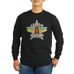 Captain Awesome 2 Long Sleeve Dark T-Shirt