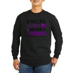 Needs A Cure ANOREXIA Long Sleeve Dark T-Shirt