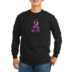 Flower Ribbon LUPUS Long Sleeve Dark T-Shirt