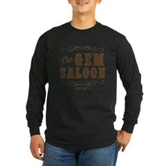 The Gem Saloon Long Sleeve Dark T-Shirt