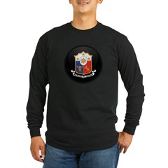 Coat of Arms of philippines Long Sleeve Dark T-Shirt