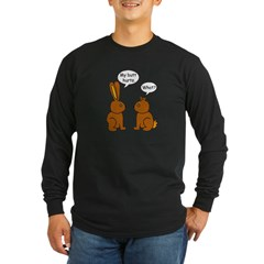 Funny Chocolate Bunnies Long Sleeve Dark T-Shirt