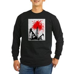 Oil of blood Long Sleeve Dark T-Shirt