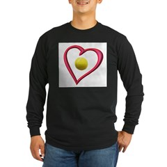 Love Tennis Long Sleeve Dark T-Shirt
