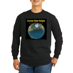 2012 Annular Solar Eclipse Long Sleeve Dark T-Shirt