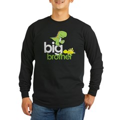 ADULT SIZES big brother dinosaur Long Sleeve Dark T-Shirt