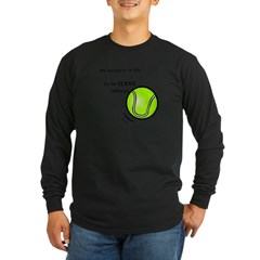 Tennis: Serve Others Men's Sports T-Shirt Long Sleeve Dark T-Shirt