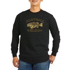 FOOTBALL SEASON Long Sleeve Dark T-Shirt