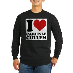 I Love Carlisle Cullen Long Sleeve Dark T-Shirt
