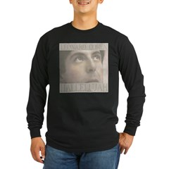 leonard hallelujah2t.jpg Long Sleeve Dark T-Shirt