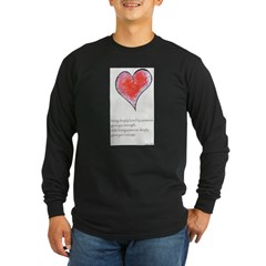 Love Deeply Long Sleeve Dark T-Shirt