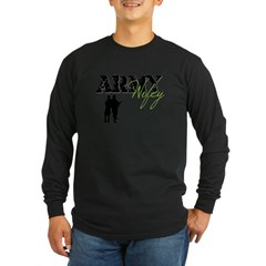 Designs of an Army Wifey Long Sleeve Dark T-Shirt
