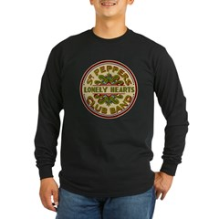Lonely Hearts Club Maroon Long Sleeve Dark T-Shirt
