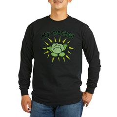 my+cabbages Long Sleeve Dark T-Shirt