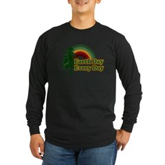 Earth Day Every Day Retro Long Sleeve Dark T-Shirt