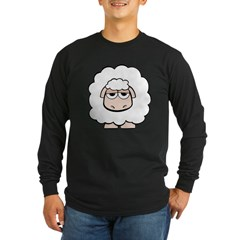 White Sheep Long Sleeve Dark T-Shirt
