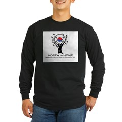 Korea to Home Long Sleeve Dark T-Shirt