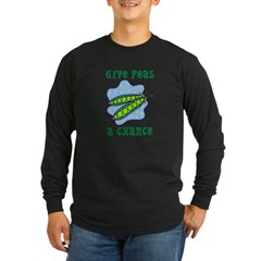 PEAS ON EARTH Long Sleeve Dark T-Shirt