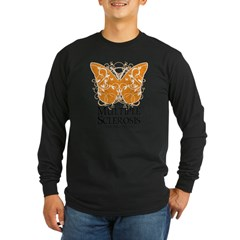 MS Butterfly Long Sleeve Dark T-Shirt