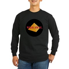 Walk Away Long Sleeve Dark T-Shirt